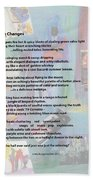 Jazz Changes - Poem Beach Towel