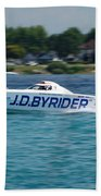 J.d. Byrider Offshore Racing Beach Towel