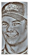 Jeff Gordon In 2010 Beach Towel by J McCombie
