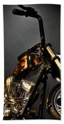 Jesse James Bike 2 Detroit Mi Beach Towel