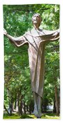 Jesus Statue Beach Towel