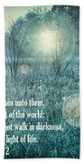 Jesus The Light Of The World Beach Towel