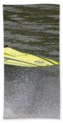 Jetboat In A Race At Grants Pass Boatnik With Text Beach Towel