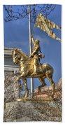 Joan Of Arc Statue New Orleans Beach Towel