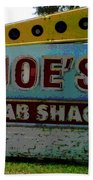Joe's Crab Shack Beach Towel