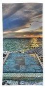 John Maynard Plaque Beach Towel
