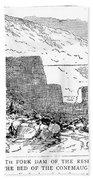 Johnstown Flood: Dam, 1889 Beach Towel