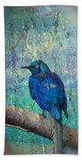 Josh's Blue Bird Beach Towel