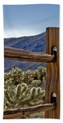 Joshua Tree Cholla Garden Beach Towel