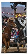 Joust To The End... Beach Towel