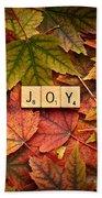 Joy-autumn Beach Towel