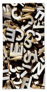 Jumbled Letters Beach Towel