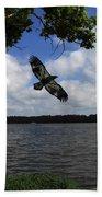 Junenile Eagle Rocky Fork Lake Beach Towel