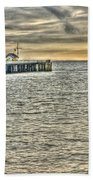 Just Sailing By Grunge Beach Towel