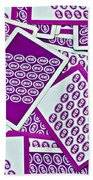 K And B Playing Cards New Orleans Beach Towel