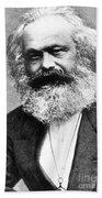Karl Marx Beach Towel