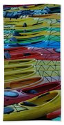 Kayak Row Beach Towel
