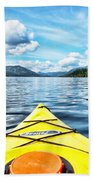 Kayaking In Bc Beach Towel