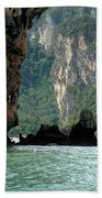Kayaking In Thailand Beach Towel