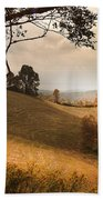 Kentucky Type Hayfields Beach Towel