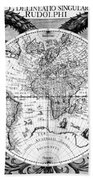 Keplers World Map, Tabulae Beach Towel by Science Source