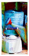 Kettles And Cans To Water The Garden Beach Towel