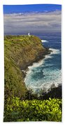 Kilauea Lighthouse Hawaii Beach Towel