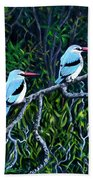 Woodland Kingfisher Beach Towel