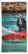 Kitesurfer Beach Towel by Stelios Kleanthous