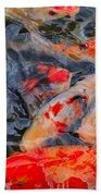 Koi Pond II Beach Towel