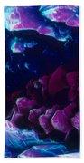 L. Histidine Crystals Beach Towel by M. I. Walker