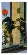 La Rosa Alla Finestra Beach Towel by Guido Borelli