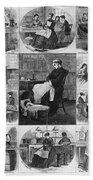 Labor: Women, 1868 Beach Towel