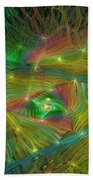 Lacy Rainbow Triangle Beach Towel
