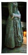 Lady By Lantern Light Beach Towel