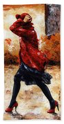 Lady In Red 28 Beach Towel