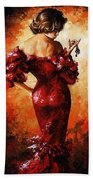 Lady In Red 33 Beach Towel