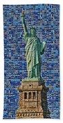 Lady Liberty Mosaic Beach Towel