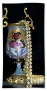 Lady Vase And Pearls Beach Towel