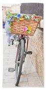 Lady's Bike Beach Towel