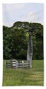 Lafayette Meeks Cemetery Appomattox Virginia Beach Towel by Teresa Mucha