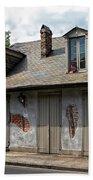 Lafittes Blacksmith Shop Bar New Orleans Beach Towel