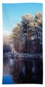 Lagan Meadows During Winter, Belfast Beach Towel