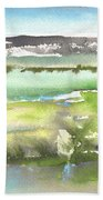 Lagoon In Spain Beach Towel