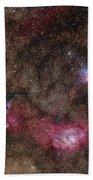 Lagoon Nebula And Trifid Nebula Beach Towel