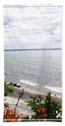Lake Erie Beach At Sturgeon Point Beach Towel