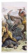 Lake George: Massacre, 1757 Beach Towel