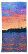 Lake Quinault Sunset - Impressionism Beach Towel