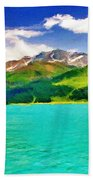 Lake Sils Beach Towel