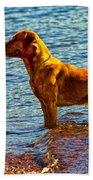 Lake Superior Puppy Beach Towel